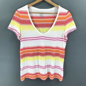 American Eagle Womens Multicolored Striped Top